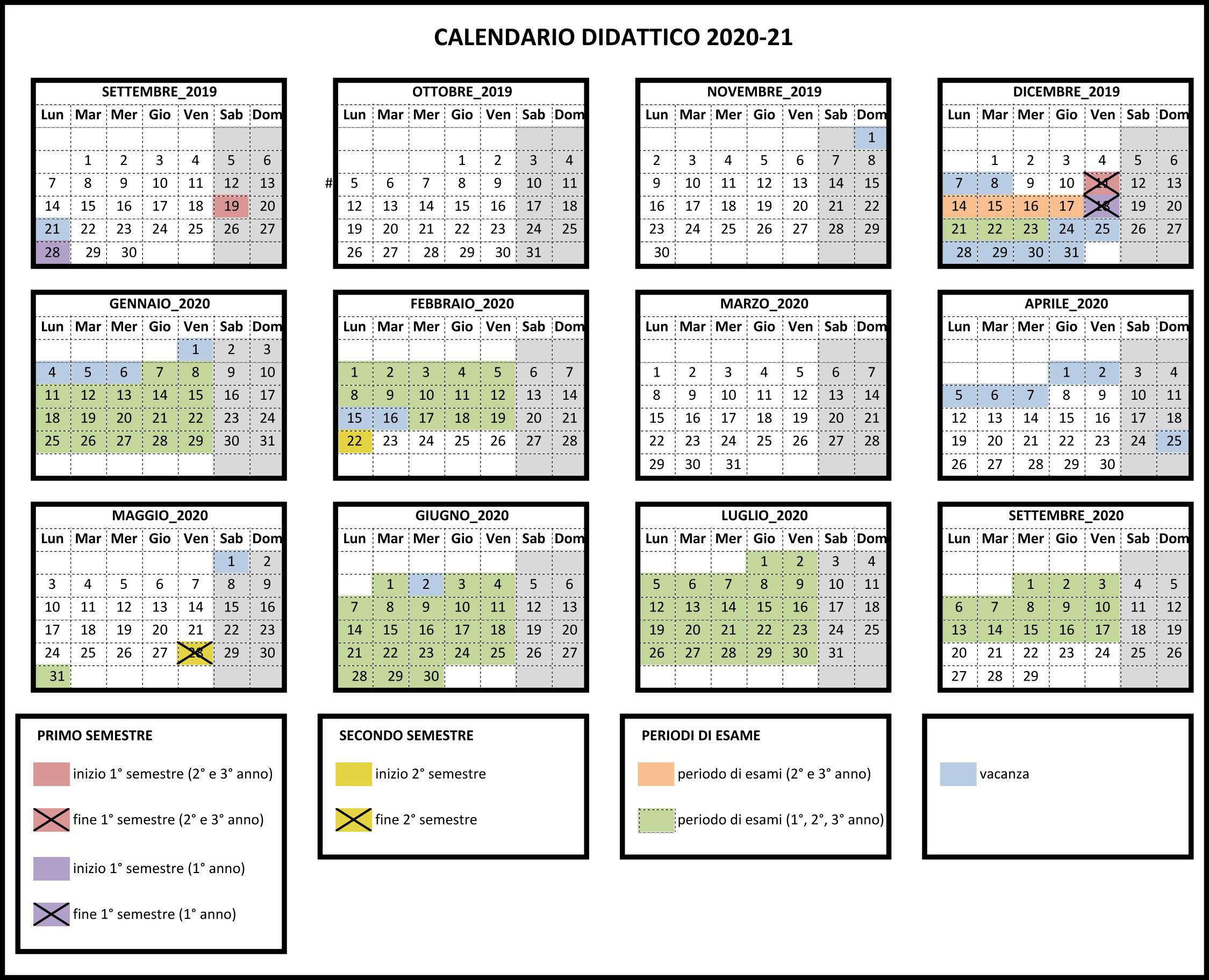 Calendario Accademico Unina 2020 2021 DIDATTICA