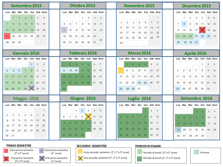 Calendario Primo Semestre 2020.Didattica