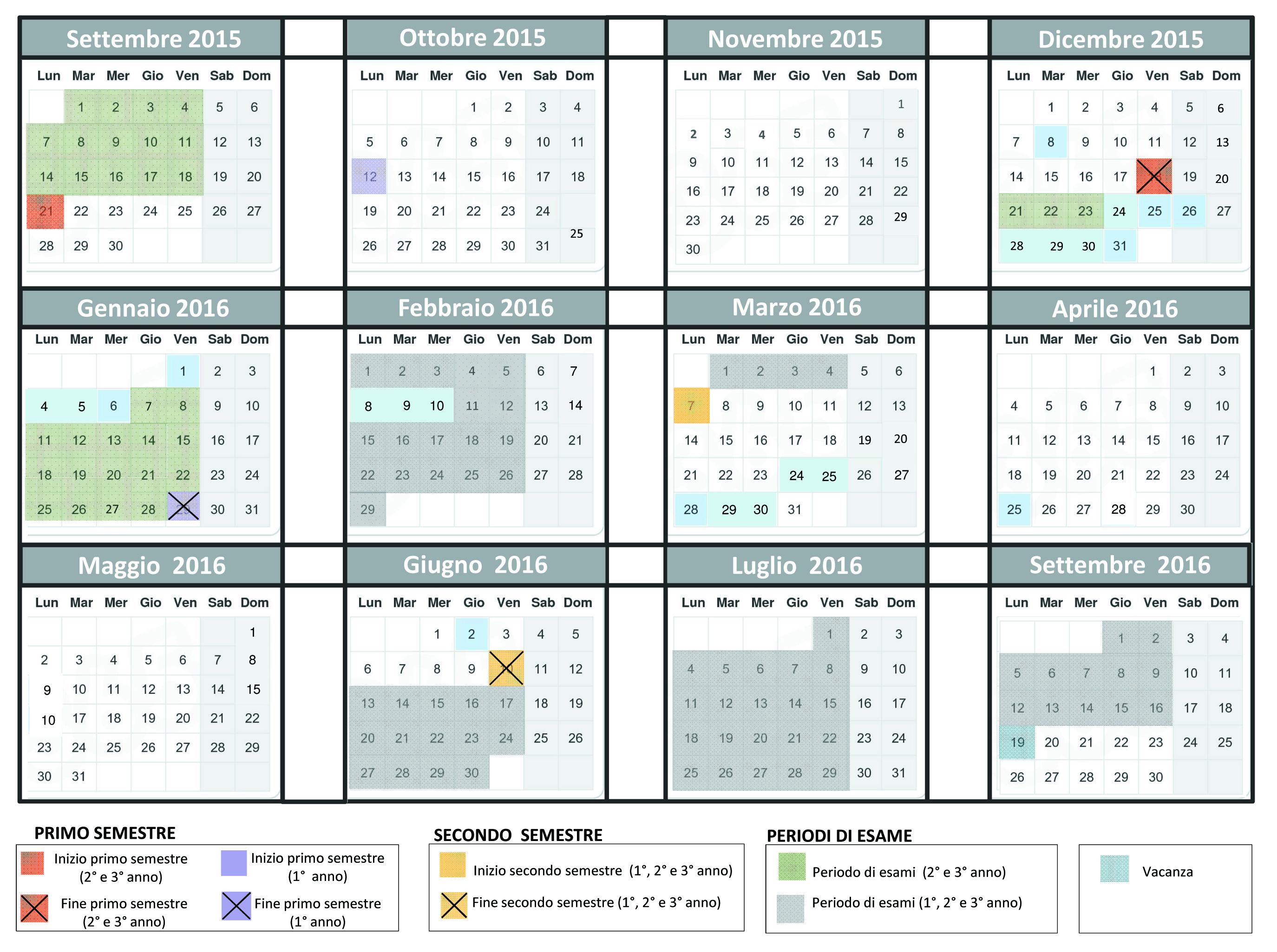 Calendario Accademico 2020.Didattica
